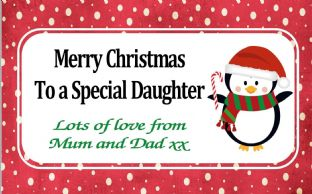 Personalised Christmas Chocolate Bar Wrapper  Design 6